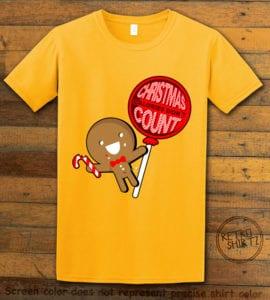 Christmas Calories Don't Count Graphic T-Shirt - yellow shirt design