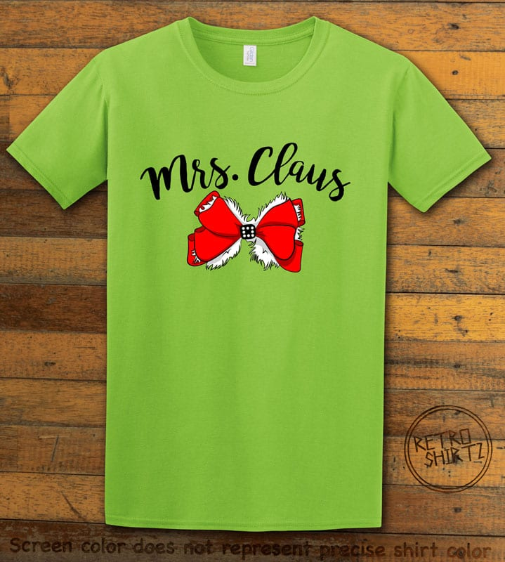Mrs. Claus Graphic T-Shirt - lime shirt design
