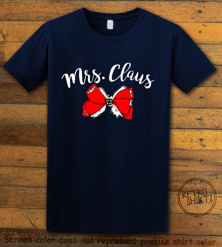 Mrs. Claus Graphic T-Shirt - navy shirt design