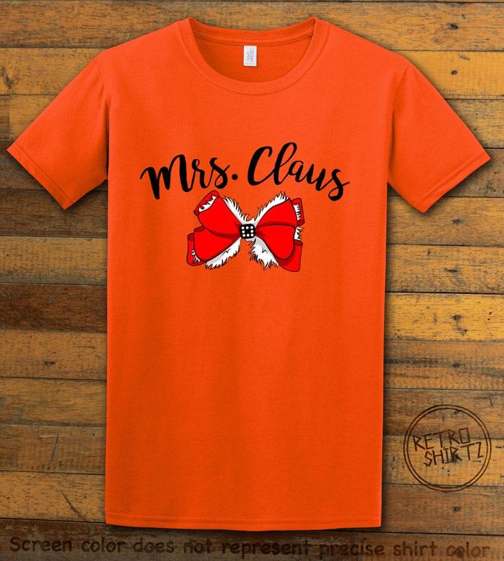 Mrs. Claus Graphic T-Shirt - orange shirt design