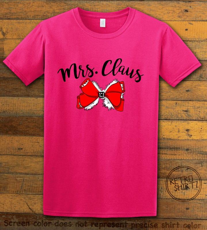 Mrs. Claus Graphic T-Shirt - pink shirt design