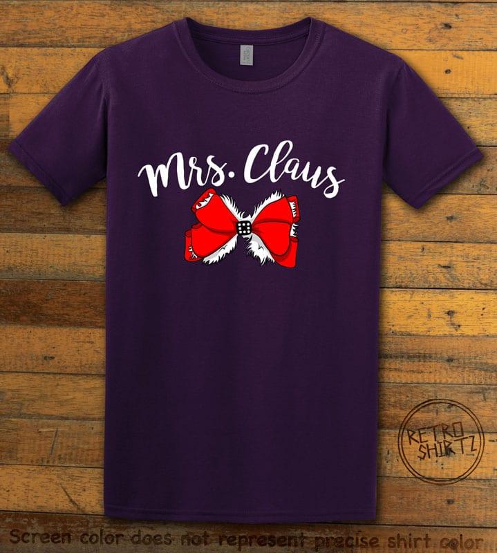 Mrs. Claus Graphic T-Shirt - purple shirt design