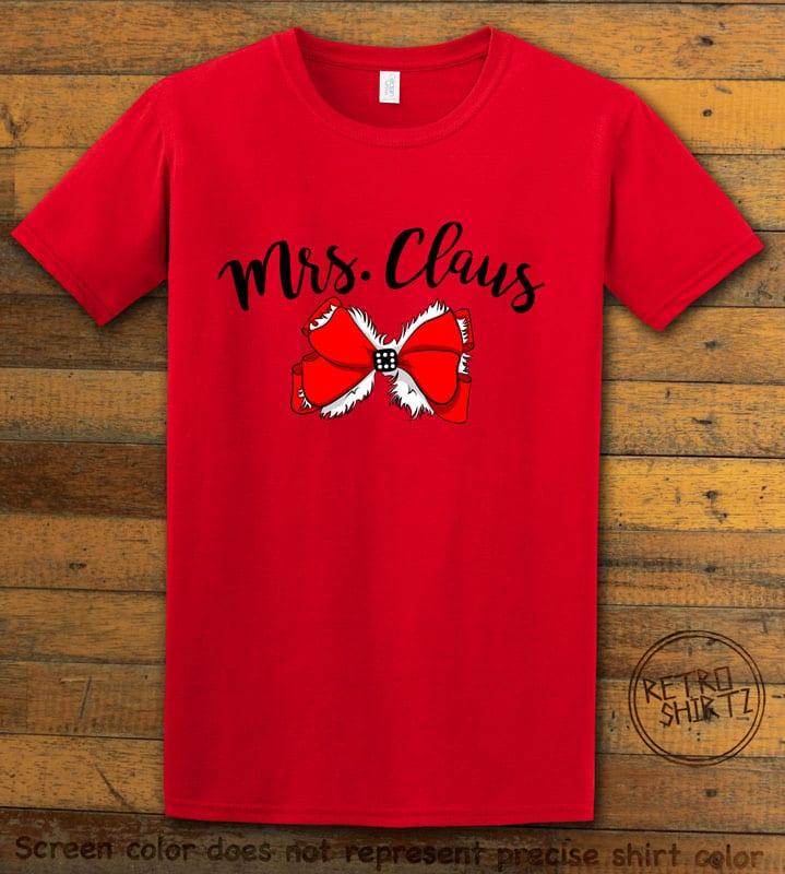 Mrs. Claus Graphic T-Shirt - red shirt design