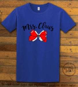 Mrs. Claus Graphic T-Shirt - royal shirt design