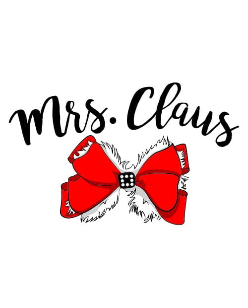 Mrs. Claus Graphic T-Shirt main vector design