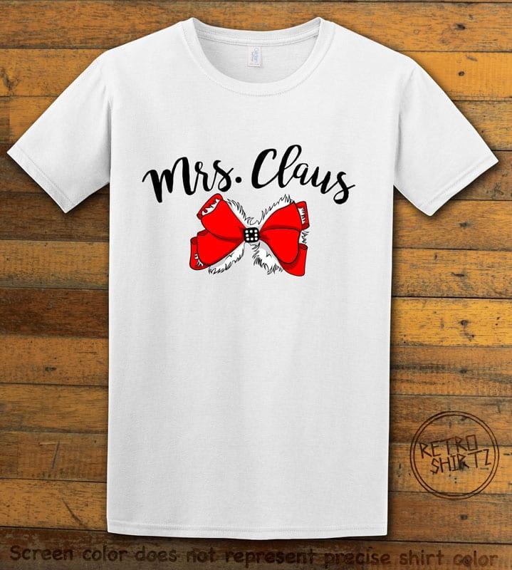 Mrs. Claus Graphic T-Shirt - white shirt design