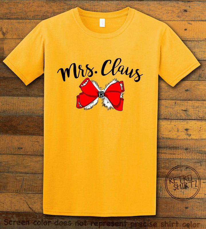 Mrs. Claus Graphic T-Shirt - yellow shirt design