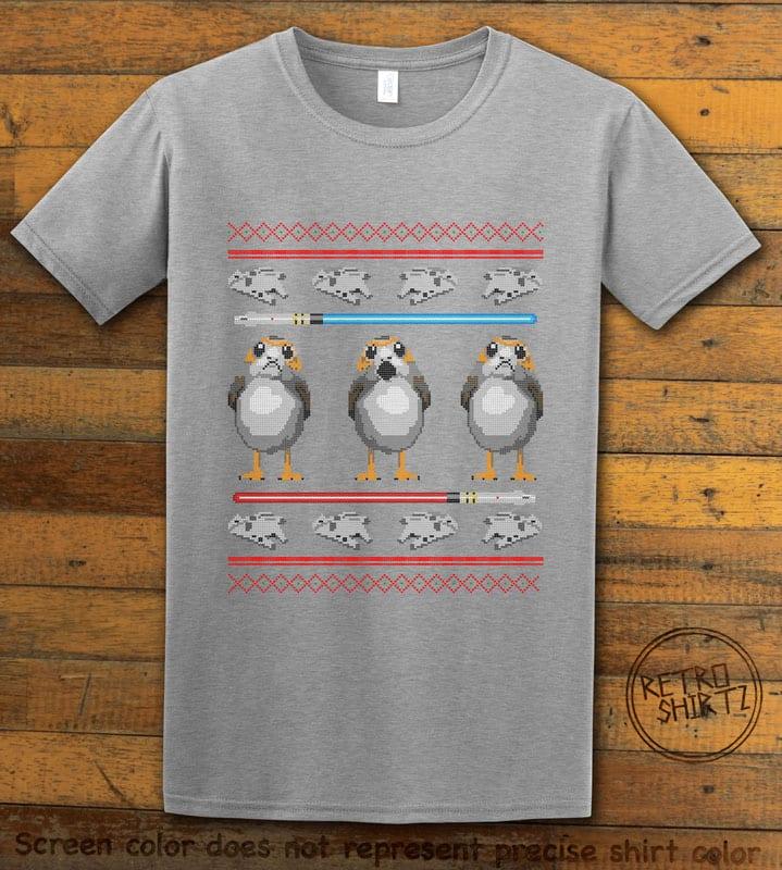 Porg Graphic T-Shirt - grey shirt design