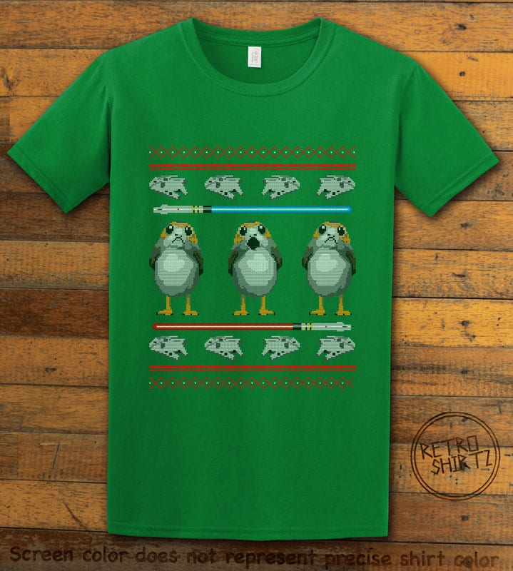 Porg Graphic T-Shirt - green shirt design