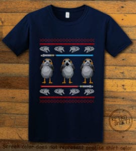 Porg Graphic T-Shirt - navy shirt design