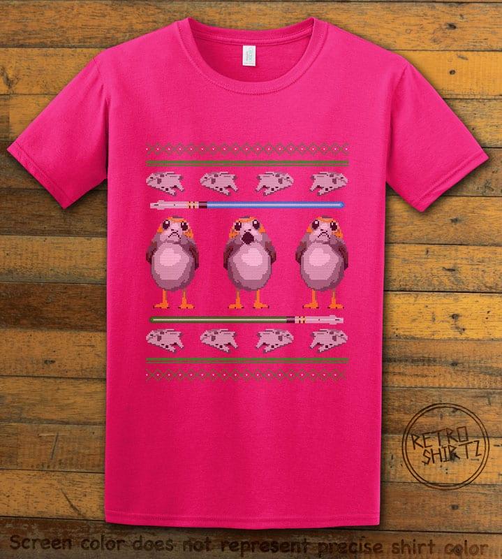 Porg Graphic T-Shirt - pink shirt design