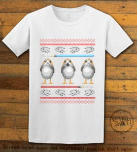 Porg Graphic T-Shirt - white shirt design