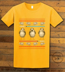 Porg Graphic T-Shirt - yellow shirt design