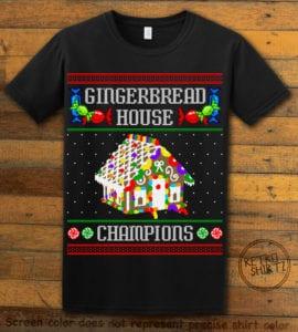 Gingerbread House Champions Graphic T-Shirt - black shirt design