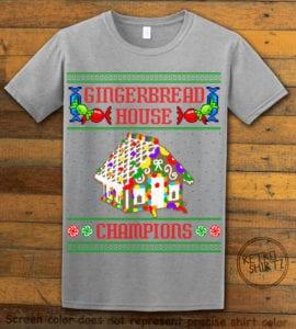 Gingerbread House Champions Graphic T-Shirt - grey shirt design