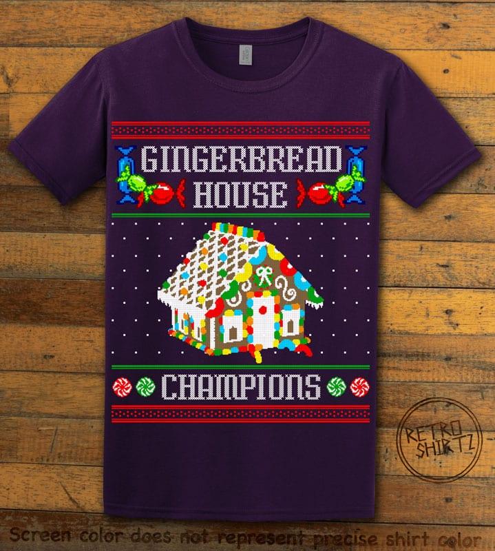 Gingerbread House Champions Graphic T-Shirt - purple shirt design