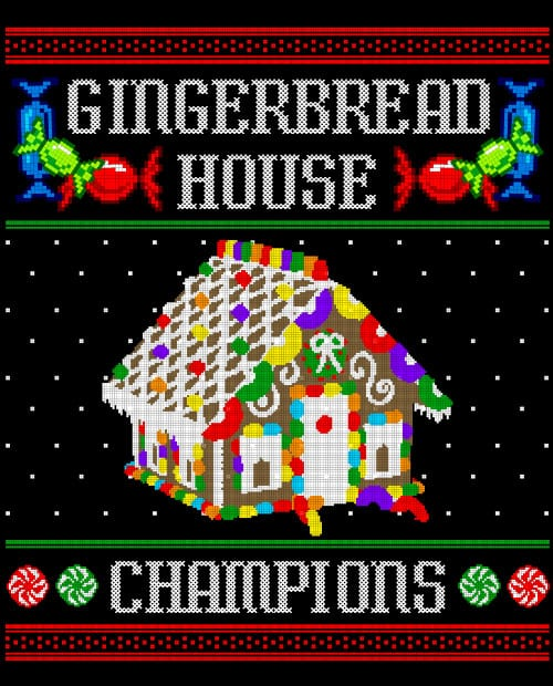 Gingerbread House Champions Graphic T-Shirt main vector design