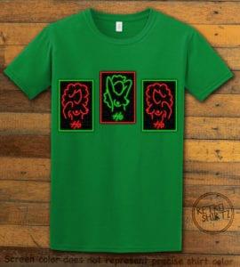 HO HO HO Neon Nude Graphic T-Shirt - green shirt design