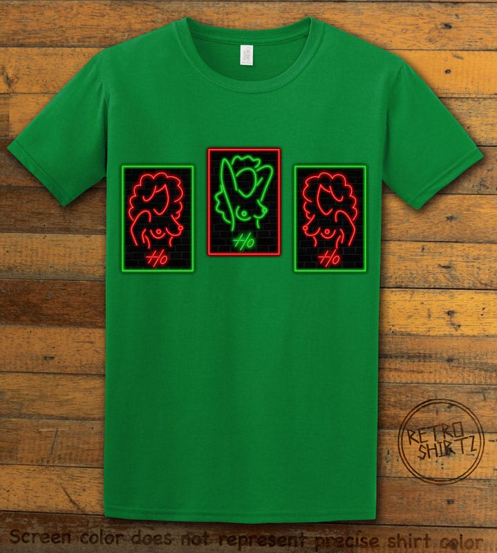 HO HO HO Neon Nude Graphic T-Shirt - green shirt design