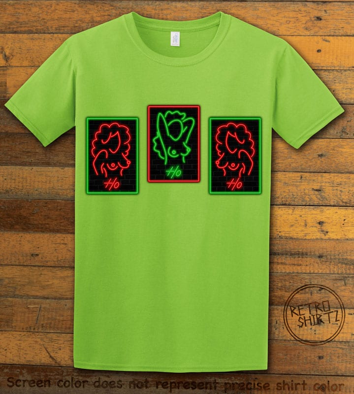 HO HO HO Neon Nude Graphic T-Shirt - lime shirt design