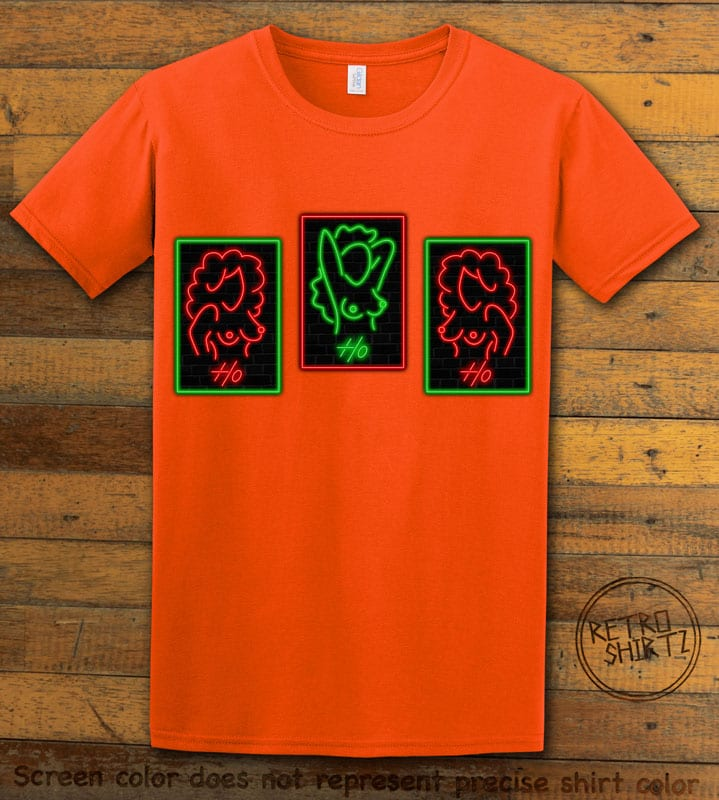HO HO HO Neon Nude Graphic T-Shirt - orange shirt design