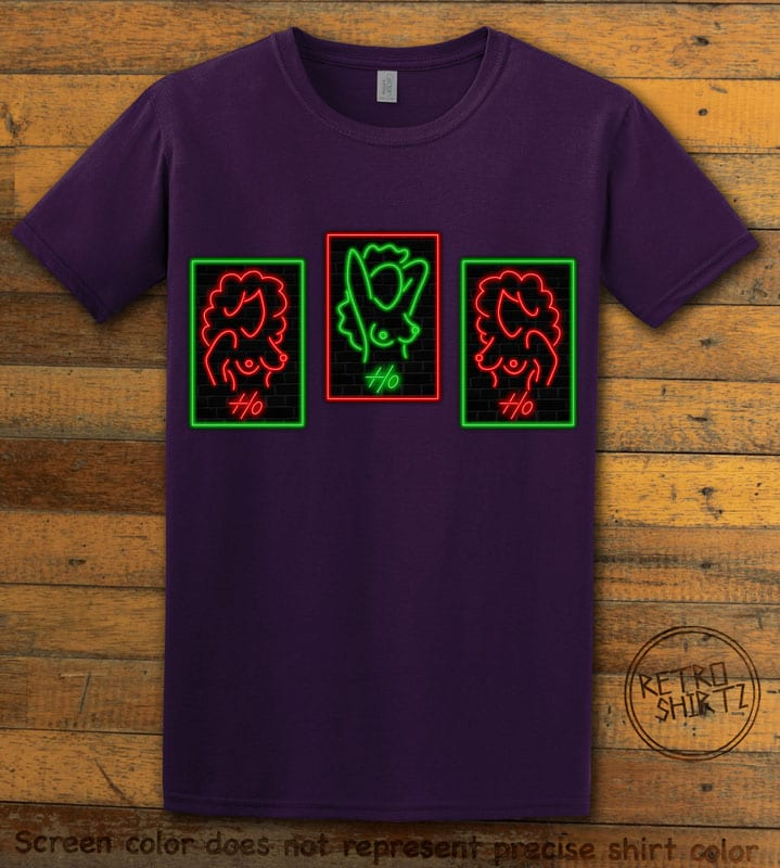 HO HO HO Neon Nude Graphic T-Shirt - purple shirt design
