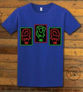 HO HO HO Neon Nude Graphic T-Shirt - royal shirt design