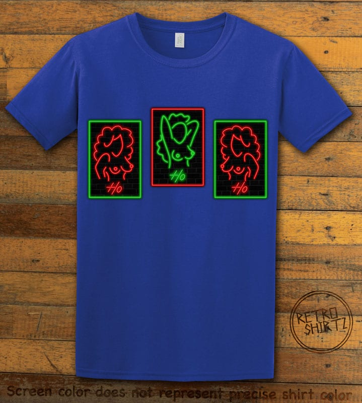 HO HO HO Neon Nude Graphic T-Shirt - royal shirt design