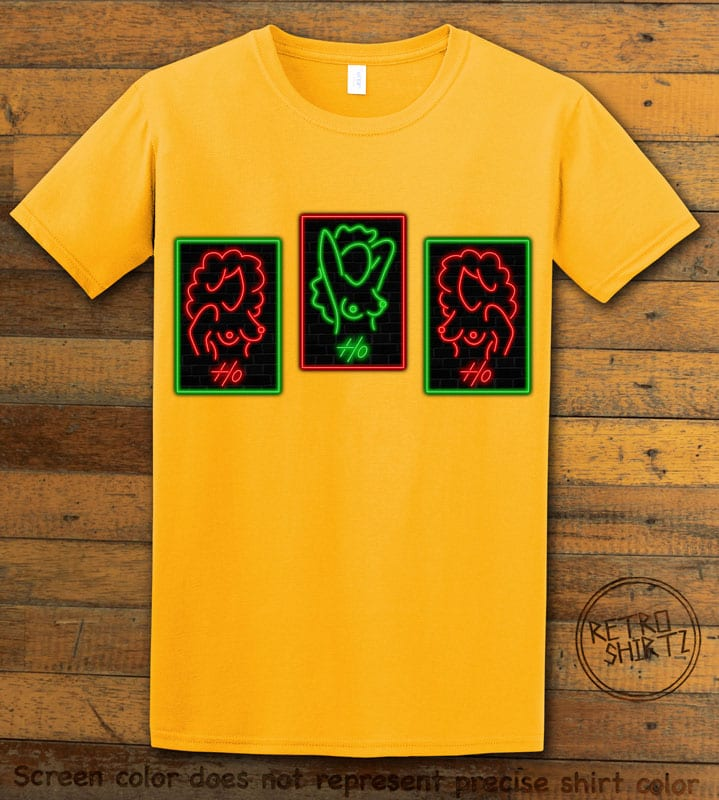 HO HO HO Neon Nude Graphic T-Shirt - yellow shirt design