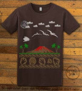Santa Before Reindeer Graphic T-Shirt - brown shirt design