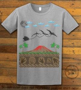 Santa Before Reindeer Graphic T-Shirt - grey shirt design