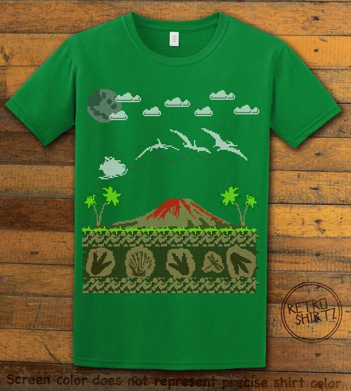 Santa Before Reindeer Graphic T-Shirt - green shirt design