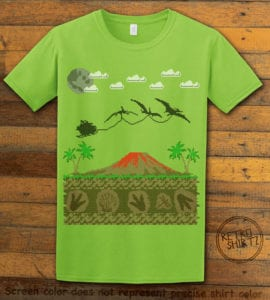 Santa Before Reindeer Graphic T-Shirt - lime shirt design