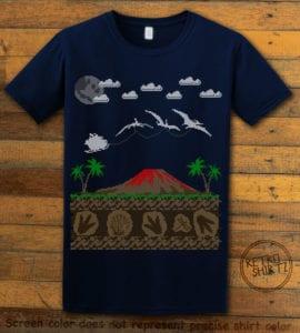 Santa Before Reindeer Graphic T-Shirt - navy shirt design