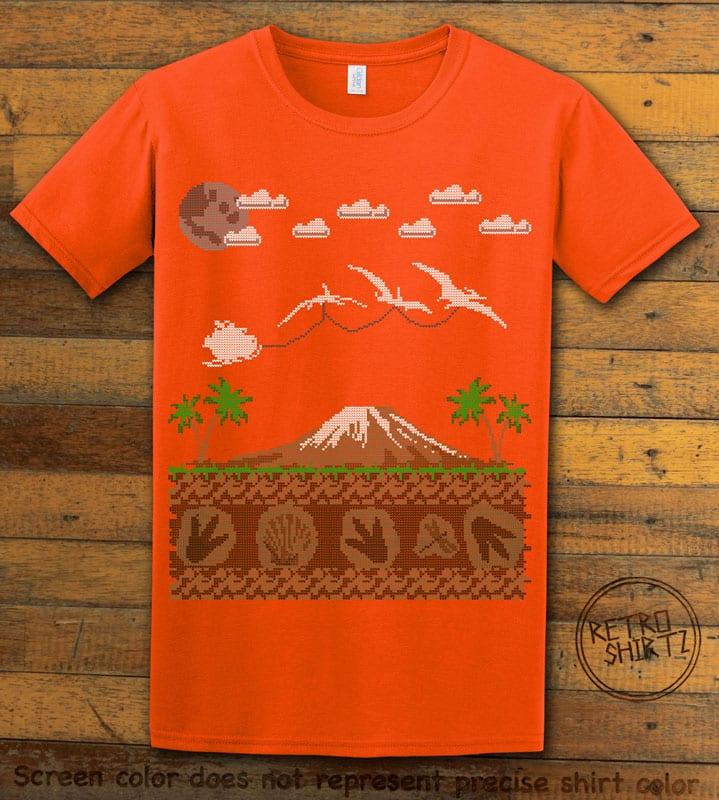 Santa Before Reindeer Graphic T-Shirt - orange shirt design