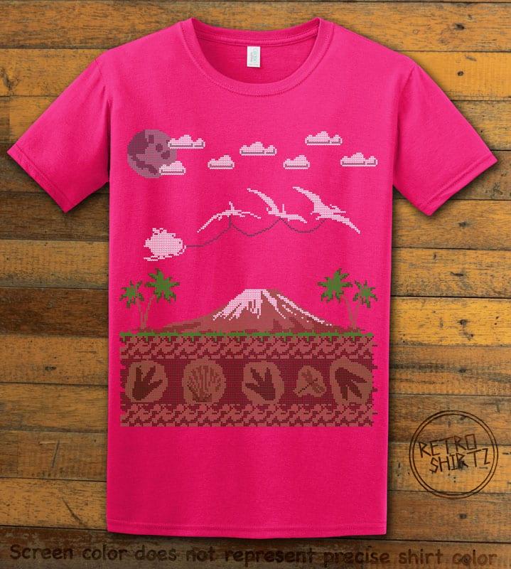 Santa Before Reindeer Graphic T-Shirt - pink shirt design