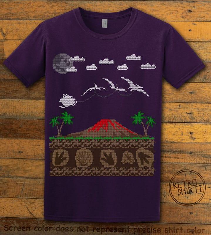 Santa Before Reindeer Graphic T-Shirt - purple shirt design