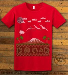 Santa Before Reindeer Graphic T-Shirt - red shirt design