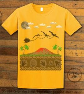 Santa Before Reindeer Graphic T-Shirt - yellow shirt design