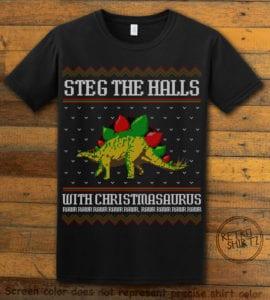 Steg The Halls Graphic T-Shirt - black shirt design