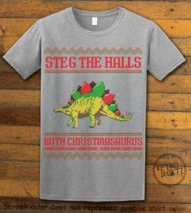 Steg The Halls Graphic T-Shirt - grey shirt design
