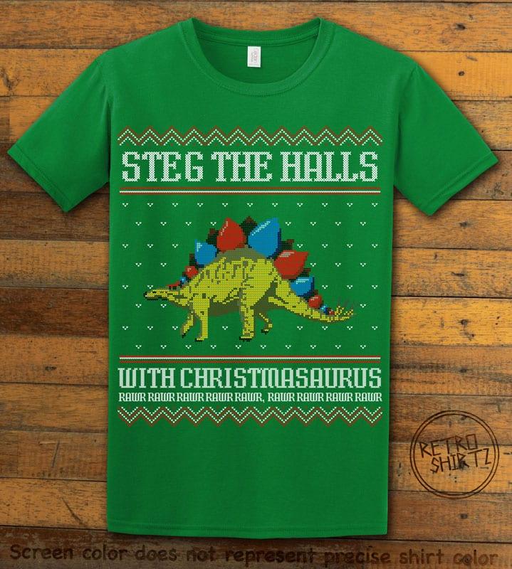 Steg The Halls Graphic T-Shirt - green shirt design