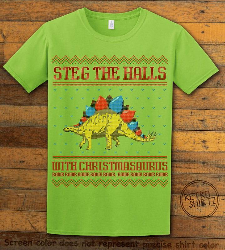 Steg The Halls Graphic T-Shirt - lime shirt design