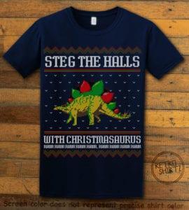 Steg The Halls Graphic T-Shirt - navy shirt design