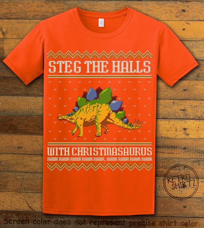 Steg The Halls Graphic T-Shirt - orange shirt design
