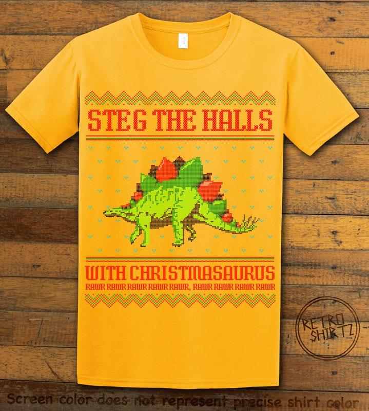Steg The Halls Graphic T-Shirt - yellow shirt design