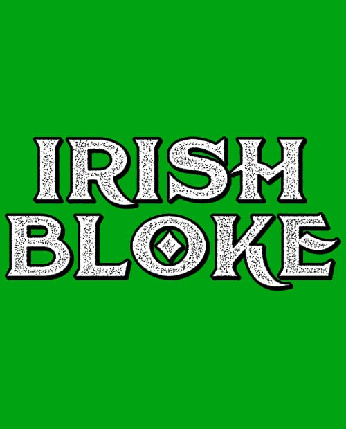 This is the main graphic design for the St Patricks Day Shirts: Irish Bloke