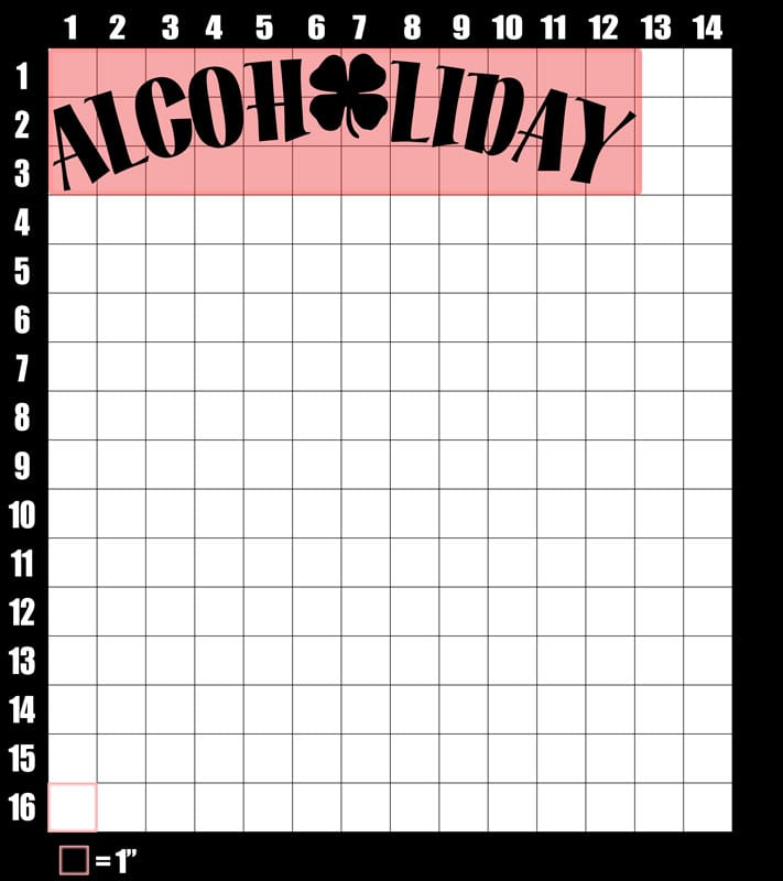 These are the graphic design dimensions for the St Patricks Day Shirts: Alcoholiday