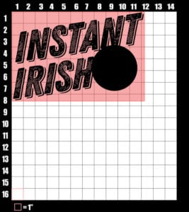 These are the graphic design dimensions for the St Patricks Day Shirts: Instant Irish