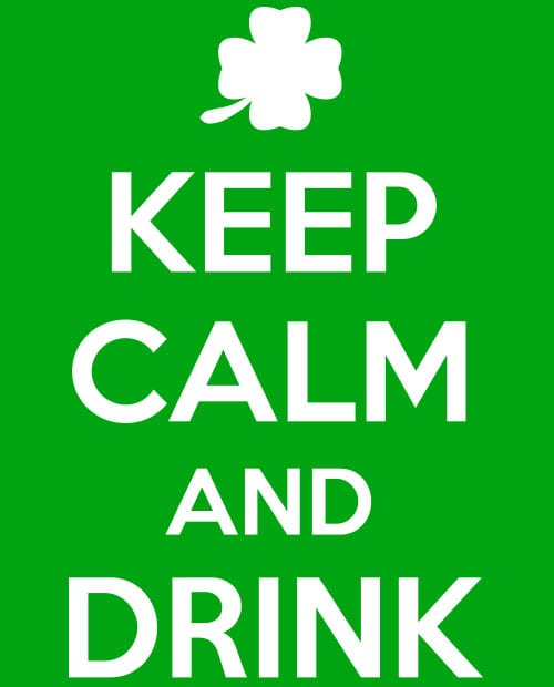 This is the main graphic design for the St Patricks Day Shirts: Keep calm and Drink On
